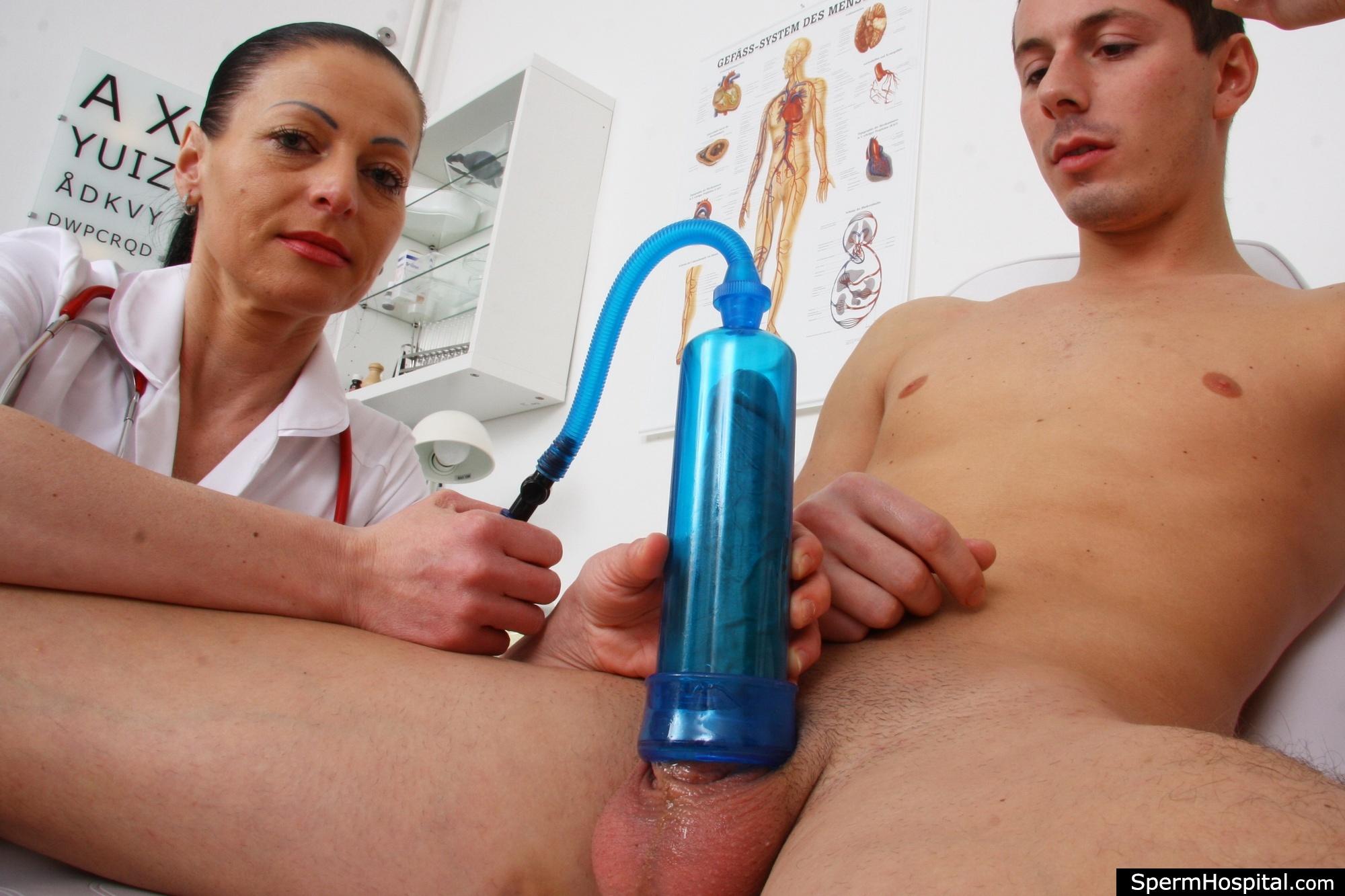 Mistress enema shaved male slave